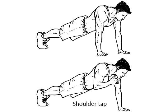 Shoulder tap
