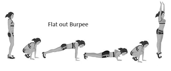 flat out Burpee
