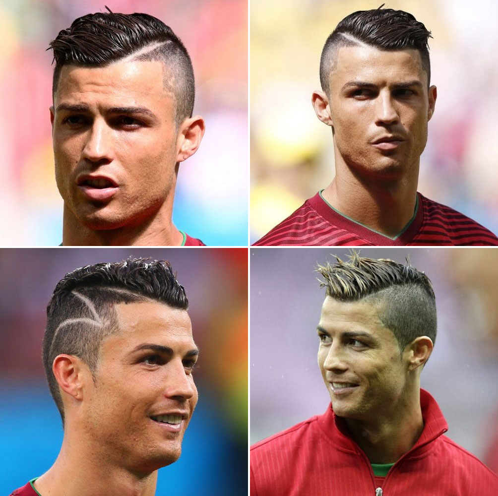 Part Comb Over Fade (Best Hair Style By Cristiano Ronaldo