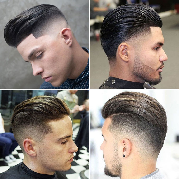 back slicked hairstyle for men