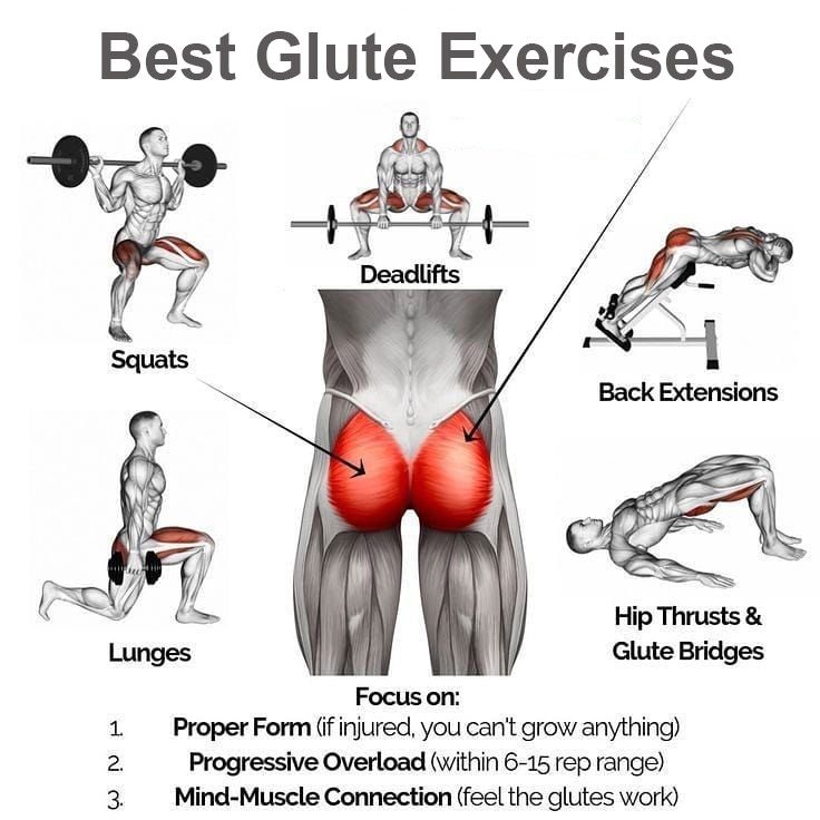 Best glute exercises