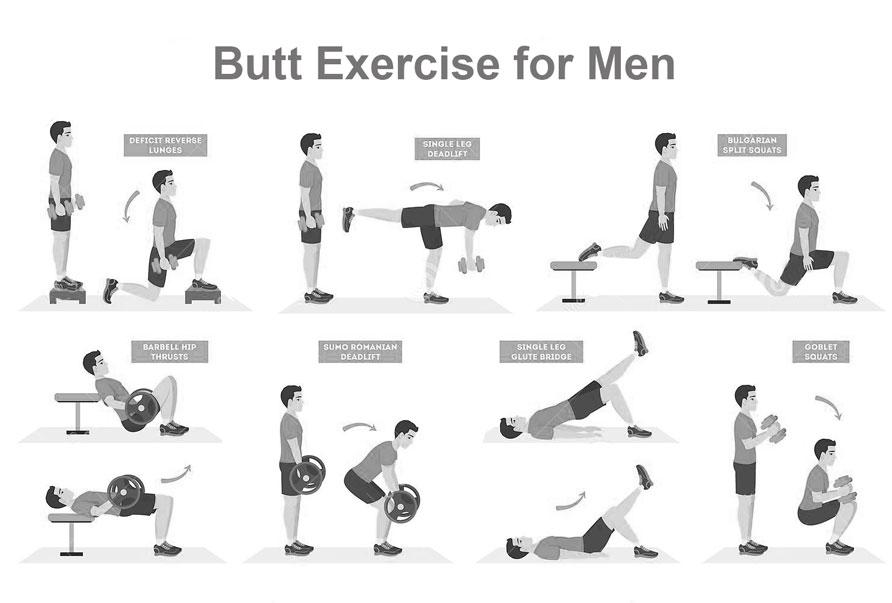 Butt exercise for men