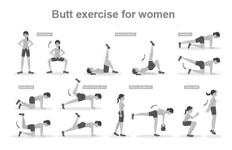Butt exercise for women