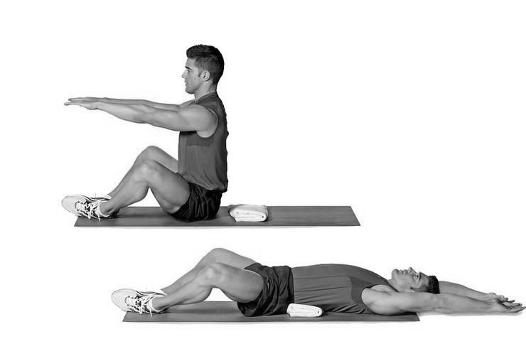 Butterfly Hip thrust situp